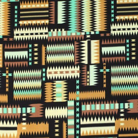 Navajo Print Fabric, Earth Tones