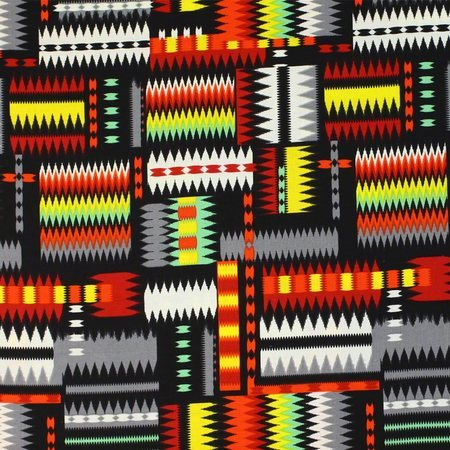 Navajo Print Fabric, Multi Bright