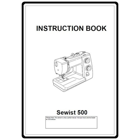 Instruction Manual, Janome 500