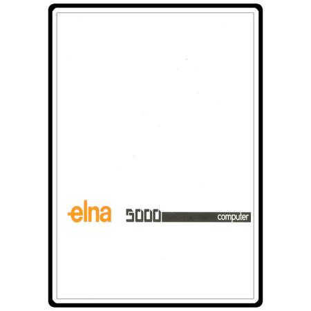 Instruction Manual, Elna 5000