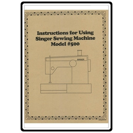 Instruction Manual, Singer 500