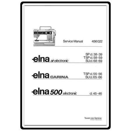 Service Manual, Elna 500 Electronic