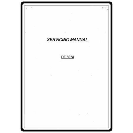 Service Manual, Janome 5024