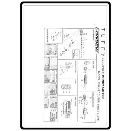 Instruction Manual, Consew 503K