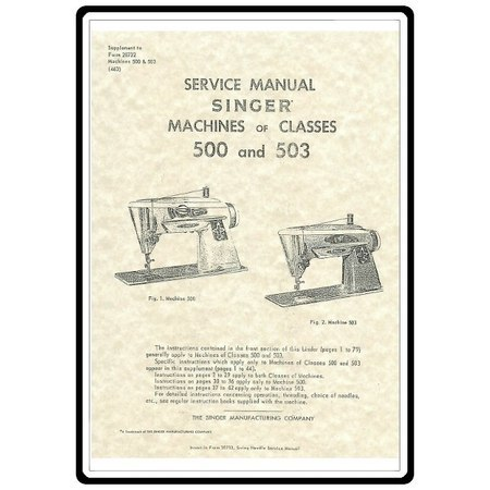 Service Manual, Singer 503 Slant-O-Matic