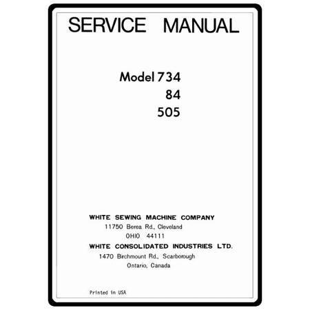 Service Manual, White 505