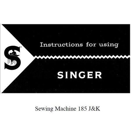 Instruction Manual, Singer 185J