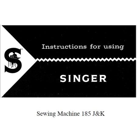 Instruction Manual, Singer 185K
