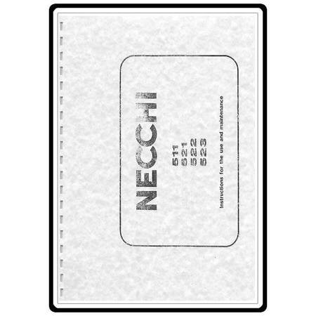 Instruction Manual, Necchi 511