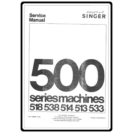 Service Manual, Singer 514 Stylist