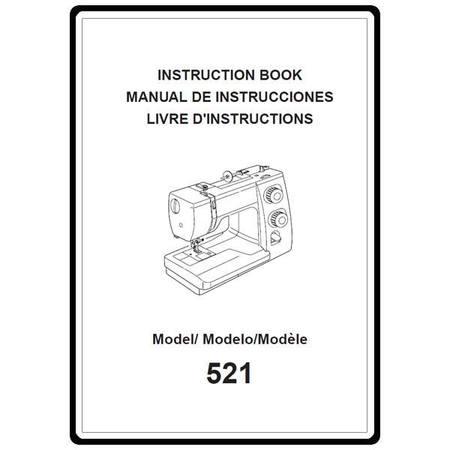 Instruction Manual, Janome 521