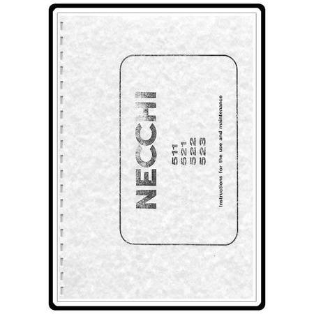 Instruction Manual, Necchi 522