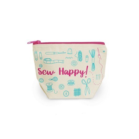 Happy Sewing Canvas Pouch