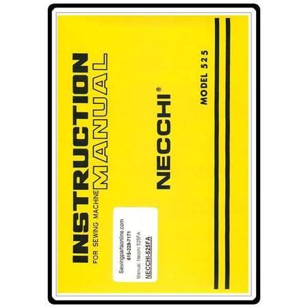 Instruction Manual, Necchi 525FA