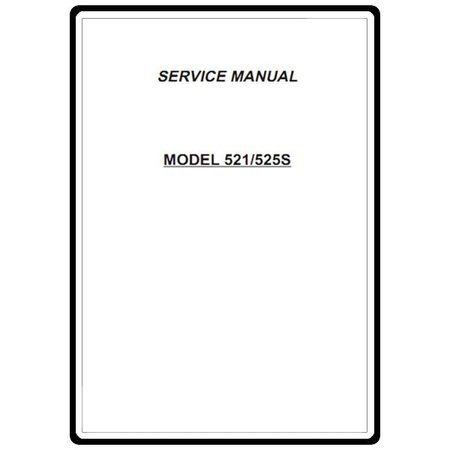 Service Manual, Janome 525S