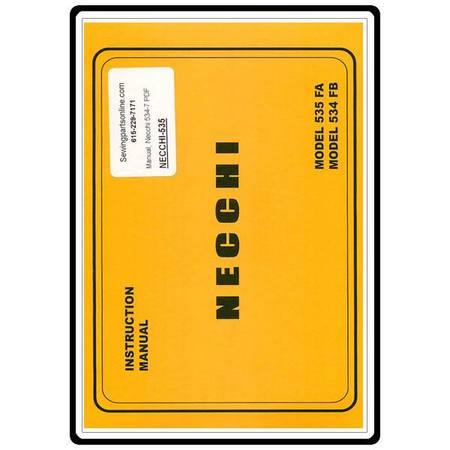 Instruction Manual, Necchi 535FA