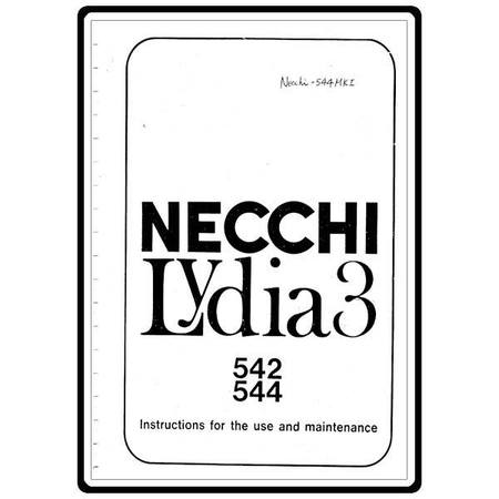 Instruction Manual, Necchi 544 Lydia 3