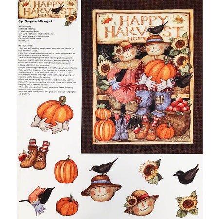 Harvest Couple Door Greeter Fabric Panel