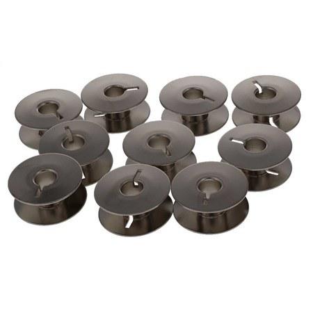 10pk Metal Bobbins, L Style, Rotary #55623S