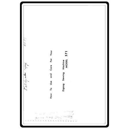 Instruction Manual, White 571