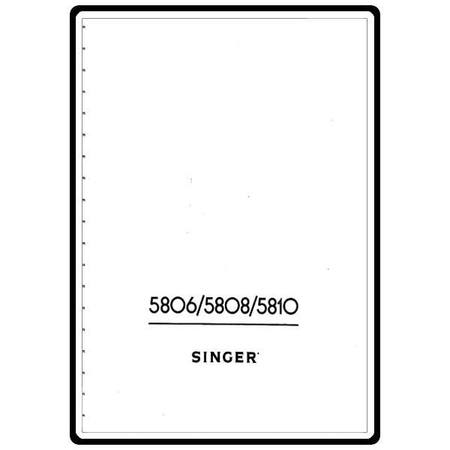 Instruction Manual, Singer 5802