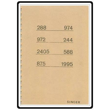 Instruction Manual, Singer 588