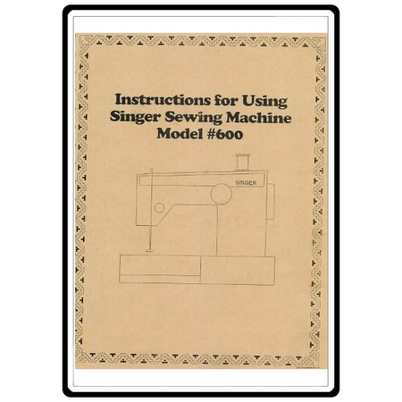 Instruction Manual, Singer 600E