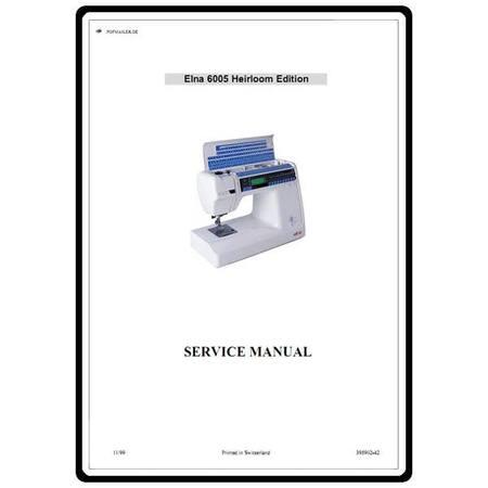 Service Manual, Elna 6005
