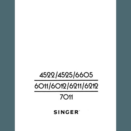 Instruction Manual, Singer 6012