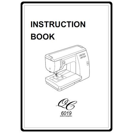 Instruction Manual, Janome 6019QC
