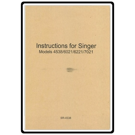 Instruction Manual, Singer 6021