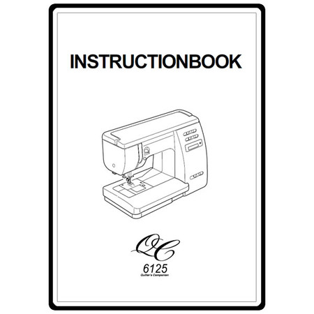 Instruction Manual, Janome 6125QC