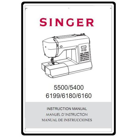 Instruction Manual, Singer 5400
