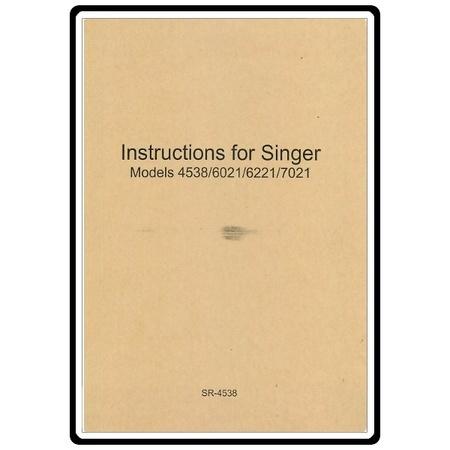 Instruction Manual, Singer 6221