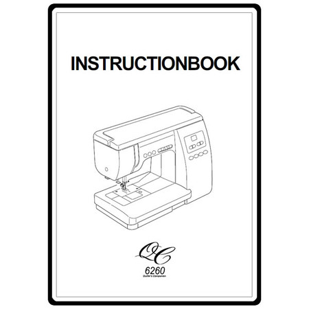 Instruction Manual, Janome 6260