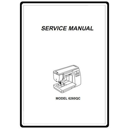 Service Manual, Janome 6260QC