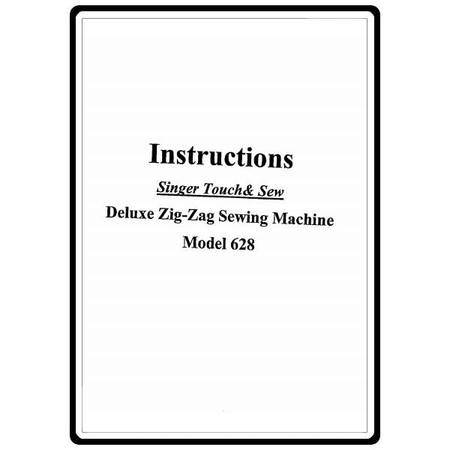 Instruction Manual, Singer 628 Touch & Sew
