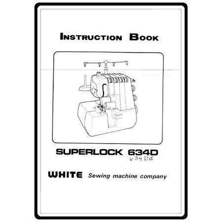 Instruction Manual, White 634DE