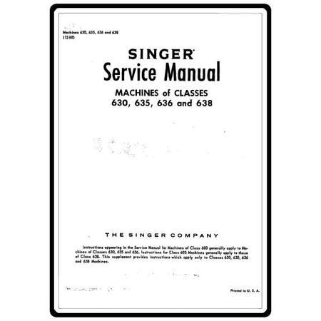 Service Manual, Singer 635