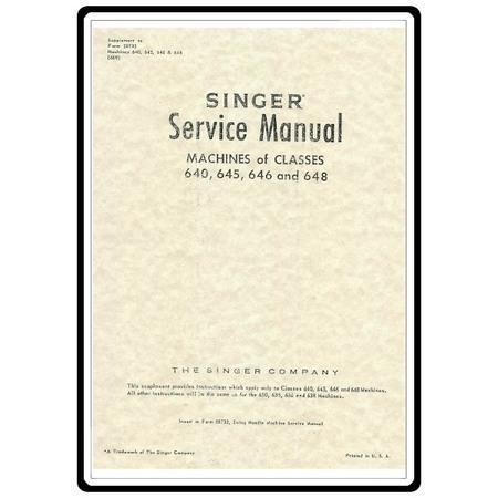Service Manual, Singer 646