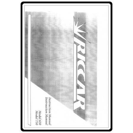 Instruction Manual, Riccar 750