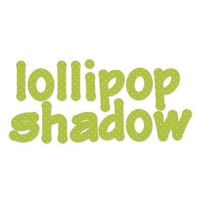 Sizzix Bigz Die, Lollipop Shadow Lowercase Letters Set (4 Dies)