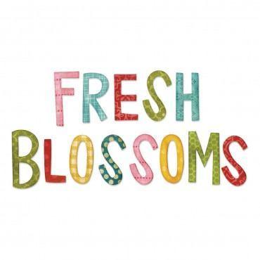 Sizzix Bigz Die, Fresh Blossoms Alphabet