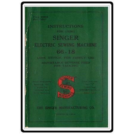 Instruction Manual, Singer 66-18