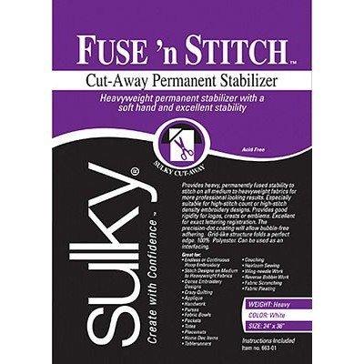 """Sulky Fuse'n Stitch Stabilizer, 24"""" x 1yd"""