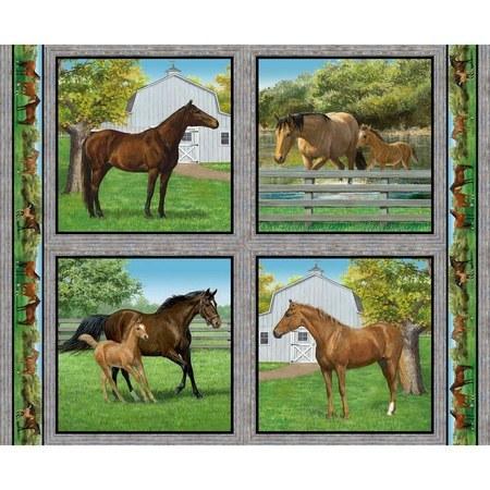 Wild Wings, Summer Breeze Horse Pillow Fabric Panel