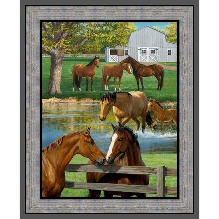 Wild Wings, Summer Breeze Horse Fabric Panel