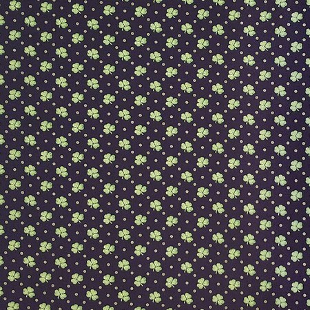 Lucky Me, Shamrock Fabric, Black