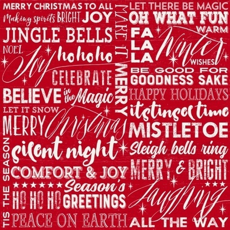 Holiday wishes season greetings fabric red sewing parts online m4hsunfo