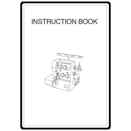 Instruction Manual, Janome 7034D